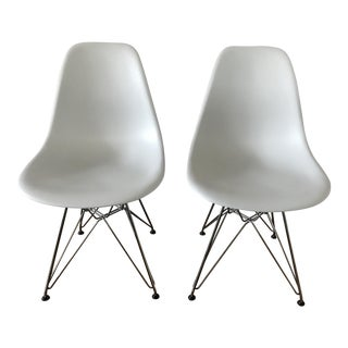 Alpine White Eames Chairs - A Pair