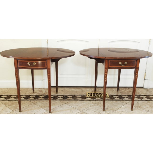 19th Century English Style Pembroke Tables - A Pair - Image 2 of 8