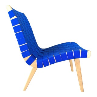 Blue Jens Risom for Knoll Web Chair