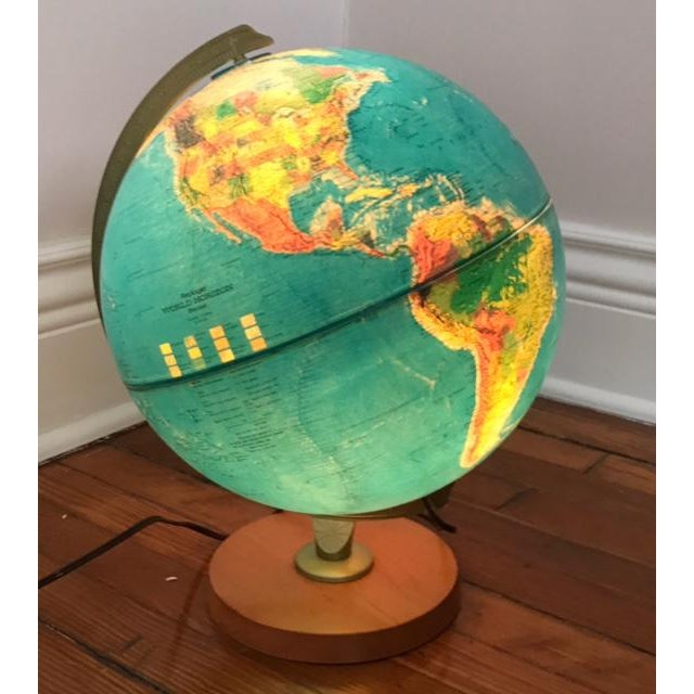 Vintage Replogle Light Up Globe with Relief - Image 4 of 5