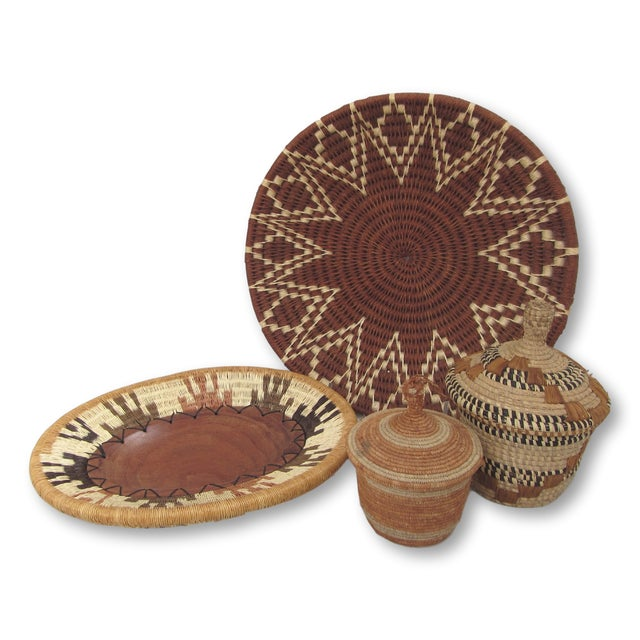Assorted African Baskets - Set of 4 - Image 2 of 11