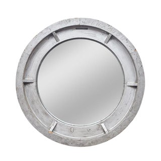 Large American Industrial Convex Mirror For Sale
