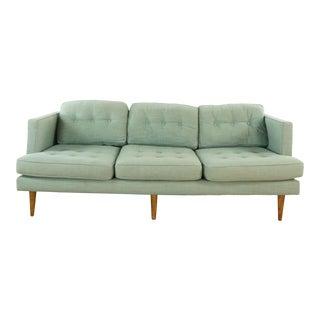 West Elm Gray Upholstered Sofa For Sale