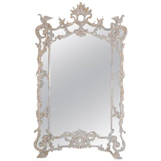 Vintage used silver full length and floor mirrors chairish for Floor mirror italian baroque rococo style