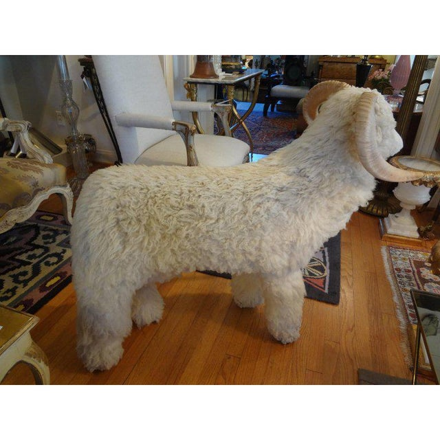 Mid-Century Modern 1960's Claude Lalanne Inspired Figural Shearling Sheep Sculpture For Sale - Image 3 of 12