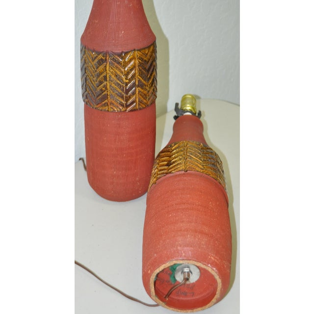 Vintage Italian Raymor Table Lamps C.1950's - Pair - Image 4 of 4