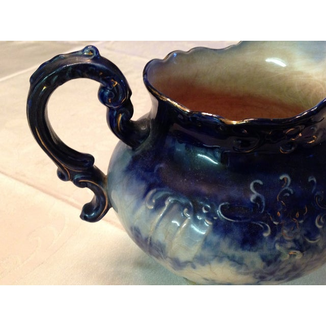 Antique Blue & White Porcelain Pitcher - Image 5 of 11