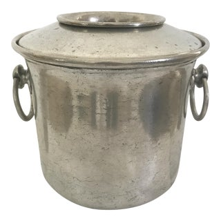 Vintage E.P.U. Europe Etain Zinn Pewter Ice Bucket Wine Cooler For Sale