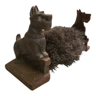 Cast Iron Scottie Boot Brush For Sale