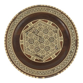 Wood Micro Inlay Plate or Tray For Sale