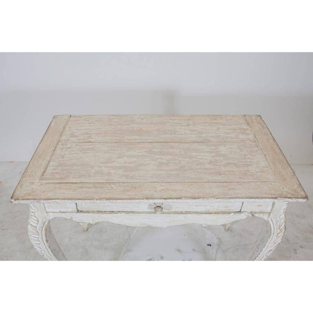 Painted Gustavian Table With a Single Drawer For Sale - Image 4 of 9