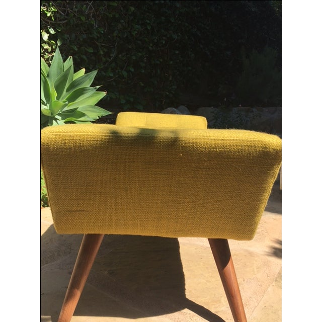 Jonathan Adler Whitaker Bench in Ochre For Sale In Los Angeles - Image 6 of 8