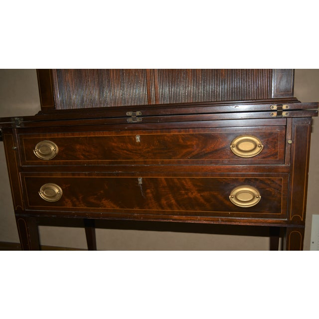 Antique Federal Style Mahogany Secretary For Sale In Dallas - Image 6 of 12