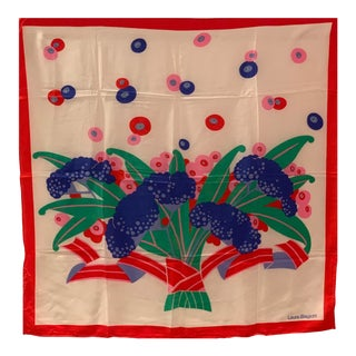 Laura Biagiotti Vintage Silk Scarf For Sale