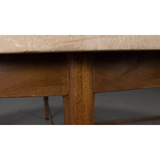Mid-Century Modern Round Travertine Cocktail Table by Paul McCobb for the Connoisseur Collection For Sale - Image 3 of 8