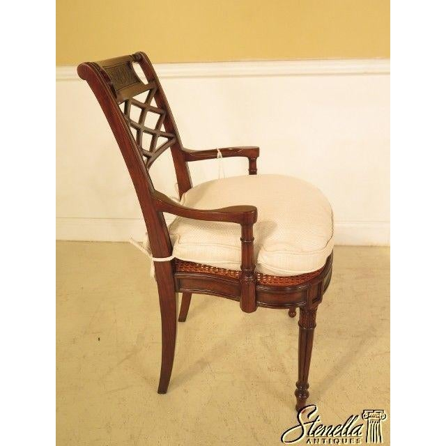 Wood Theodore Alexander Pair Regency Mahogany Arm Chairs #4100-236 For Sale - Image 7 of 11