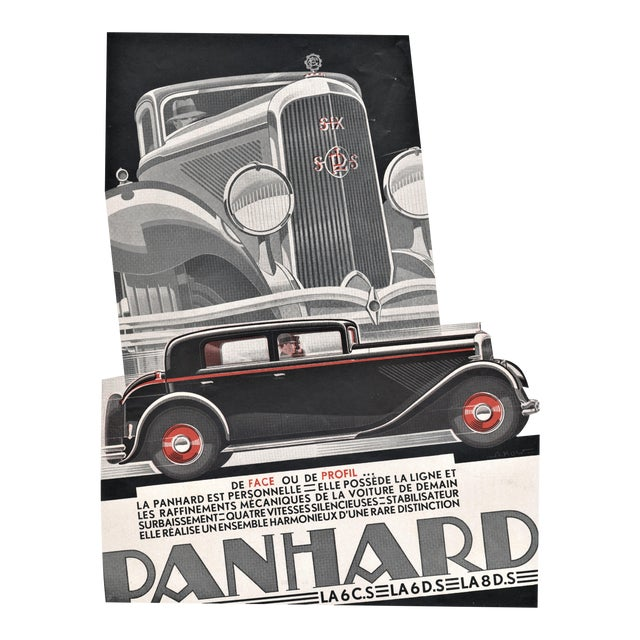 Art Deco Automobile Print by Kow For Sale
