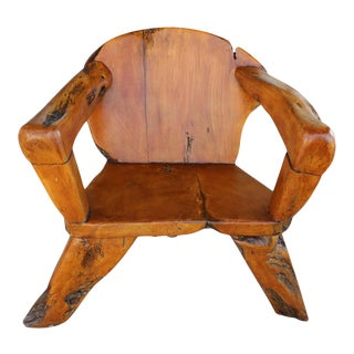 Teak Tree Root Studio Club Chair For Sale
