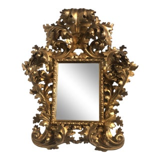 18th Century Italian Carved Gilt Wood Mirror For Sale