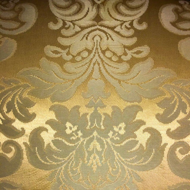 1950s Louis XV Style Champagne Gold Fabric Chairs - a Pair For Sale - Image 4 of 6