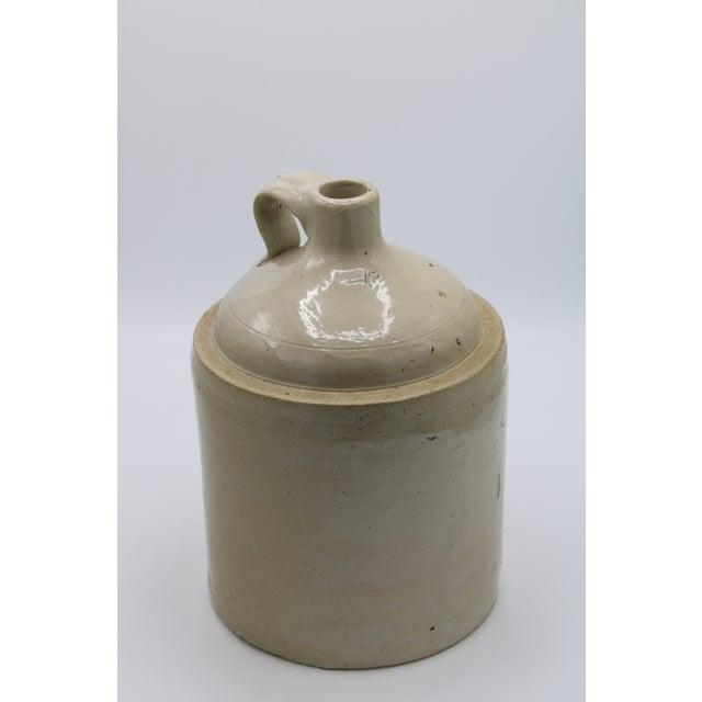 Ceramic Antique Stoneware Farmhouse Crock Jugs - a Pair For Sale - Image 7 of 10