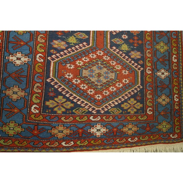 Quality Hand Tied Caucasian Rug - 3′7″ × 5′6″ For Sale - Image 9 of 10