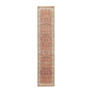 Pasargad Rose-Colored Hand-Knotted Kashan Runner- 2′6″ × 12′3″ For Sale