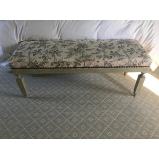 Modern Schumacher Spencer Bench With Brantwood Vine Fabric Preview