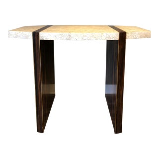 Maitland Smith Macassar and Tessellated Stone Table For Sale