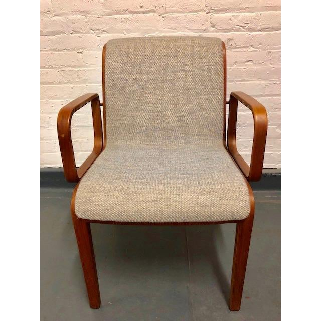 Tan 1980s Vintage Mid-Century Modern Bill Stephens for Knoll Chairs - A Pair For Sale - Image 8 of 12