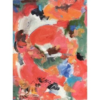 Abstract Painting, 'Mango Tangerine' by Sean Kratzert