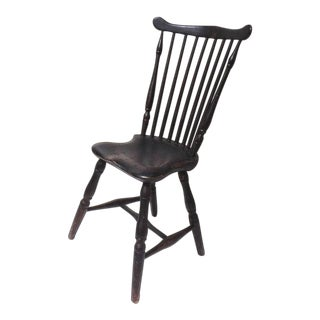 Fantastic 18thc Original Painted New England Windsor Side Chair For Sale