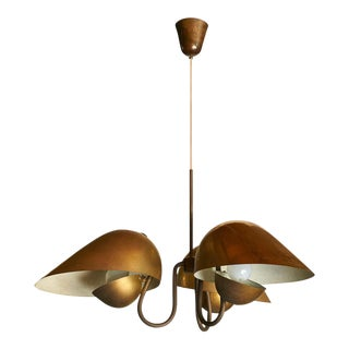 Chandelier in Brass by Carl Axel Acking For Sale