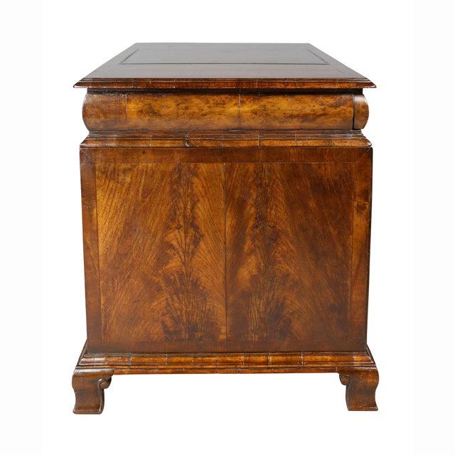 George II Style Walnut Pedestal Desk For Sale - Image 9 of 12