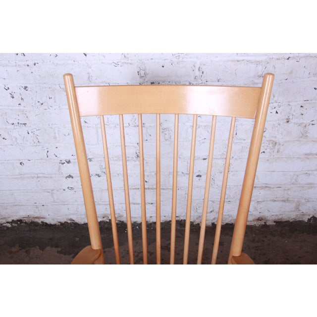 Mid 20th Century Hans J. Wegner J16 Danish Rocking Chair For Sale - Image 5 of 8