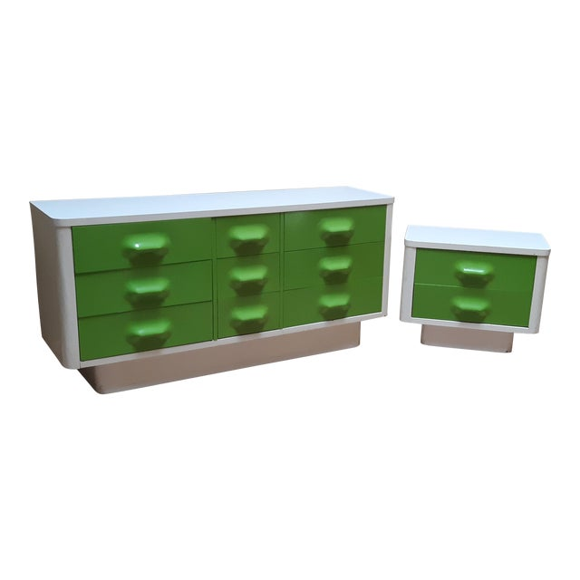 Space Age Modern Series Chaster Dresser Set by Broyhill Premier-a Pair For Sale