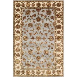 """Pasargad Agra Silk & Wool Rug- 4'1"""" x 6'1"""""""
