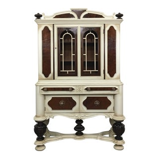 Antique Jacobean China Cabinet, Circa 1910 For Sale
