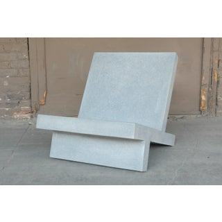 Cast Resin 'Wavebreaker' Lounge Chair, Gray Finish by Zachary A. Design Preview