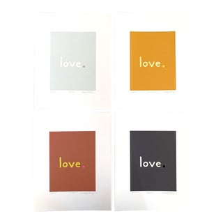 """""""Warm Neutral"""" Contemporary Fine Art Giclee Love Prints by Neicy Frey - Set of 4 For Sale"""