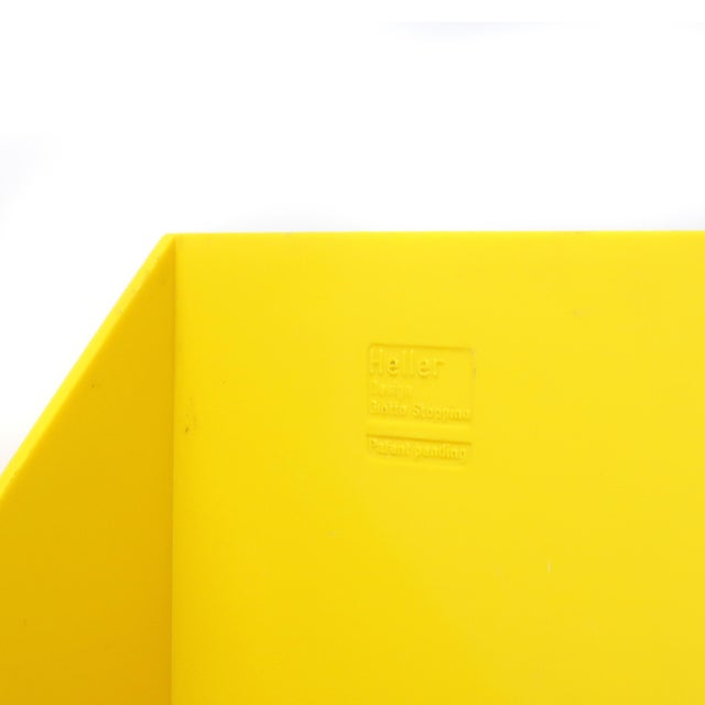 Pair of Yellow Record or Magazine Racks by Giotto Stoppino for Heller For Sale In New York - Image 6 of 7