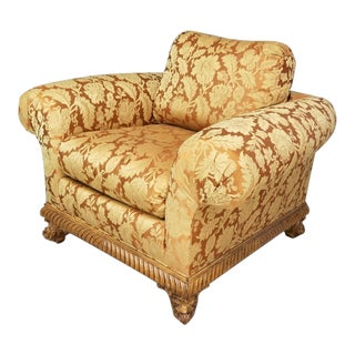 Tomlinson Erwin Lambeth Furniture Company Velvet Upholstered Club Chair For Sale