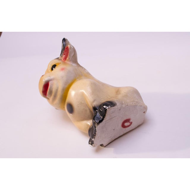 Large Vintage Chalkware Painted Bull For Sale In New York - Image 6 of 13