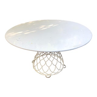 Round Steel Garden Table For Sale