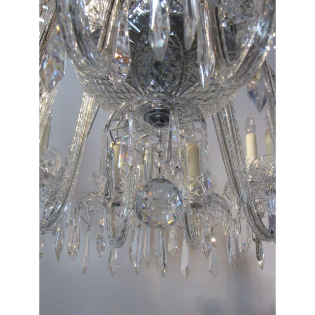 Transparent Large Waterford Chandelier For Sale - Image 8 of 10