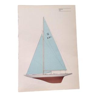 "Vintage ""Gretel"" Sailboat Print"