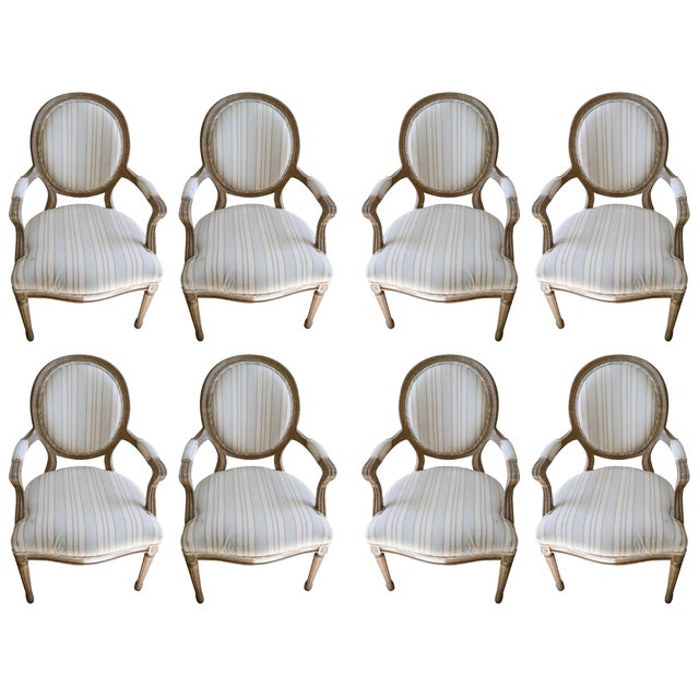 French Neoclassical Armchairs - Set of 8 - Image 1 of 6