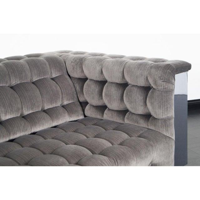"""Paul Evans Vintage Chrome """"Cityscape"""" Sofa For Sale - Image 4 of 9"""