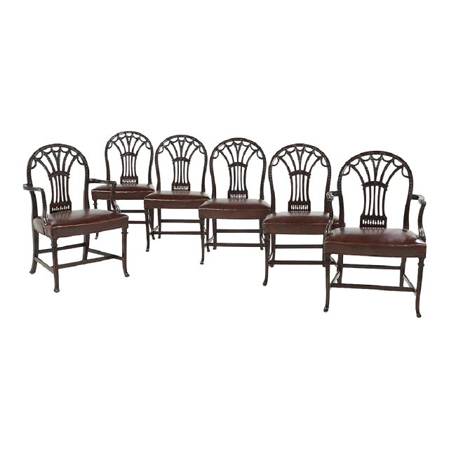 George III Style Dining Chairs - Set of 6 - Image 1 of 7