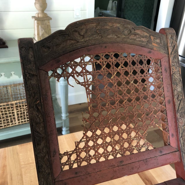 Antique Chinese Child's or Doll's Chair For Sale In San Diego - Image 6 of 8